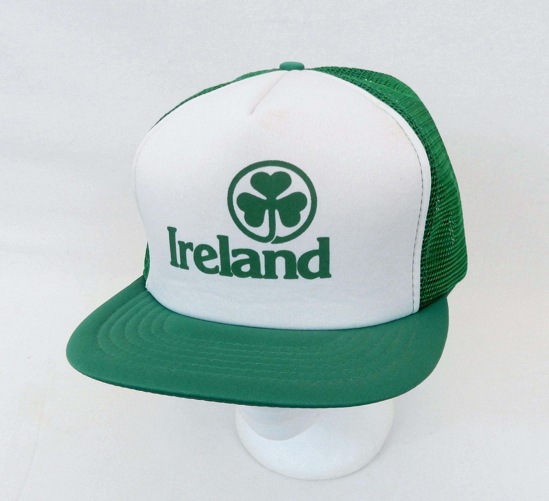 Original Vintage Ireland Irish Trucker Hat Snapback Foam Mesh  c97960da72c