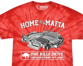 Home of the Mafia RED Tie Dye Adult unisex t shirt | Red Football Tee | graphic t shirt | screen printed | premium shirt