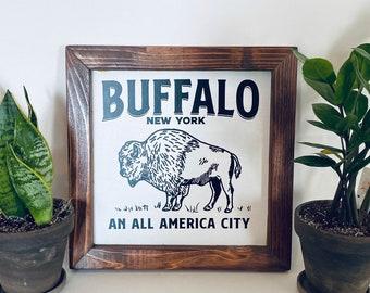 "12""x12"" - Buffalo All America City Farmhouse sign"