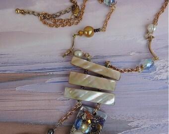 "Creative jewelry. Necklace ""memory Palma of Mallorca""."