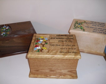 Feel Good Box, great gift for any occasion.  Fill with anything that makes you feel good wood box jewelry box carved painted