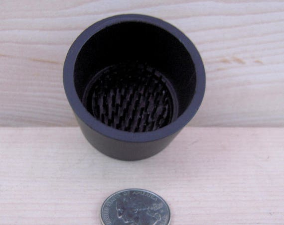 One Traditional Black Aluminum Water Holding Floral Pin Frogs  Kenzan for Japanese Ikebana Vases or Stands Black Pin Frogs (Kenzan) Attached