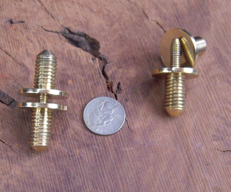 2 Solid Brass Cane Walking Stick Connector Couplers 1/2 image 0
