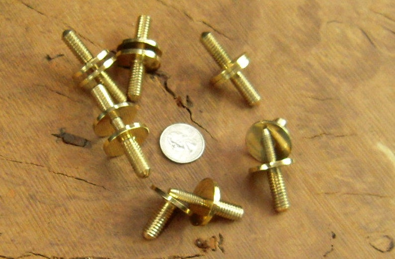 6 Solid Brass Cane Walking Stick Connector Couplers 3/8 image 0
