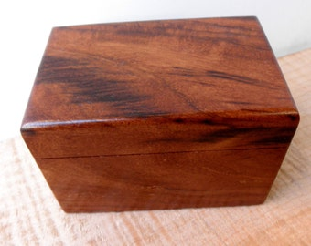 """Small Rosewood Memorial Cremation Urn...Constant Supply On Hand 4.5"""" x 3"""" x 3"""""""