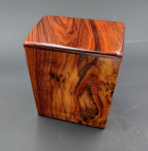 "Adult Large Rosewood Memorial Cremation Urn...Constant Supply On Hand 7"" x 4.5"" x 8.5""  Solid Rosewood LR032018-B"