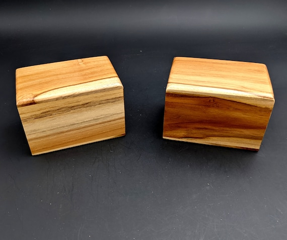 """Small Teak Memorial Cremation Urn...Constant Supply On Hand 4.5"""" x 3"""" x 3"""" Holds about 45 Cubic Inches of Cremains  Keepsake Pet"""