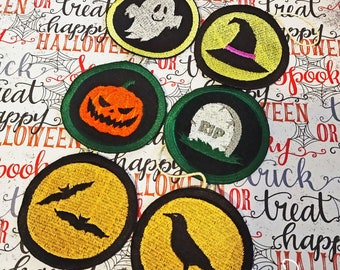 Embroidered Halloween Ornaments