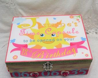 Baby Girl, Timecapsule Memory Box You Are My Sunshine, Baby Birthday Gift, Personalized Baby Gift, Baby Shower Gift, Baby Boy, Memory Box