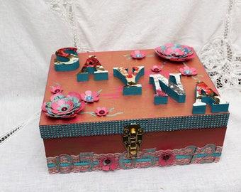 Time Capsule Box, Baby Girl Keepsake Box, Baby Shower Gift,  Large Wooden Box, Baby Girl, Baby Boy, Memory Box, Keepsake Box, Wood Box