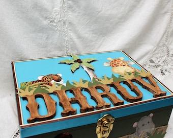 Time Capsule Box, Memory Box, Animal Memory Box, Birth Box, Storage Box, Keepsake Baby Box, Large Box, Keepsake Box, Baby Girl, Baby Boy