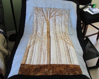 Winter Trees Wall Hanging Quilt