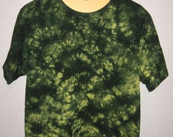 Duck (Yellow & Green) Scrunch Tie Dyed T-Shirt Medium #17