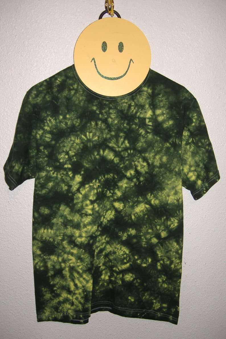 Duck Yellow & Green Scrunch Tie Dyed T-Shirt Medium 17 image 0