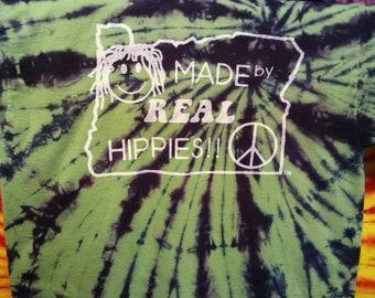 Printed Glow in the Dark Purple Kush Spiral Tie Dyed T-Shirt