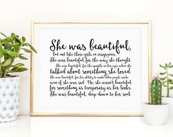 She Was Beautiful Etsy