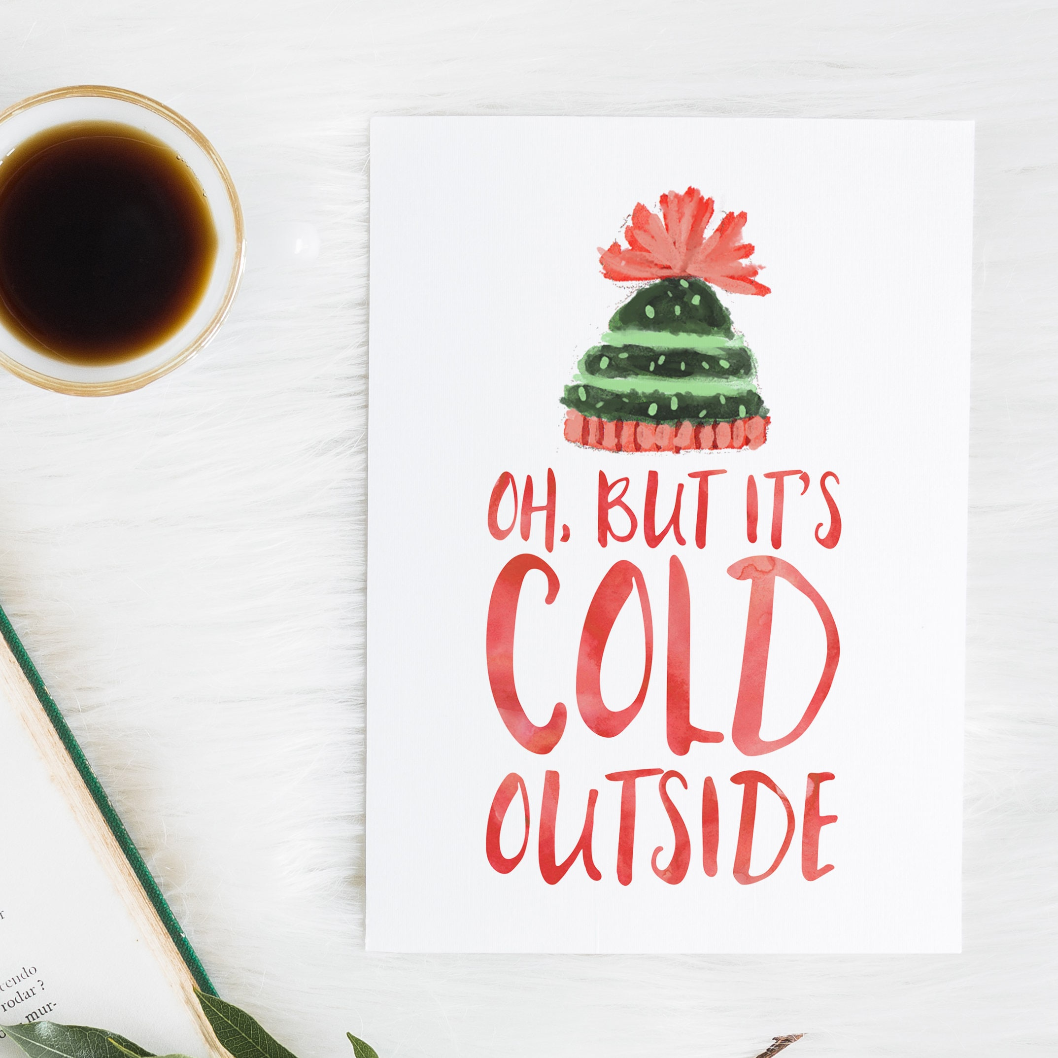 Baby it\'s Cold Outside Christmas print Winter print | Etsy