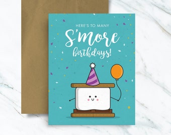 Here's to many S'more Birthdays Card, S'mores Greeting Card