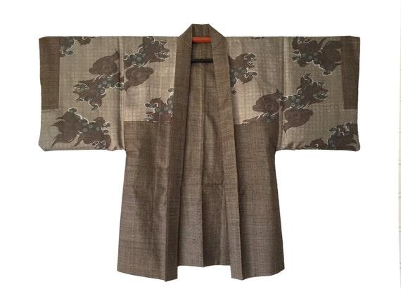 Vintage Japanese High Quality Silk Kimono Haori Ja