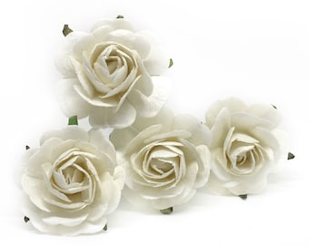 White paper flowers etsy white paper flowers paper rose artificial flowers white wedding flowers artificial roses paper rose flower mulberry paper flowers mightylinksfo