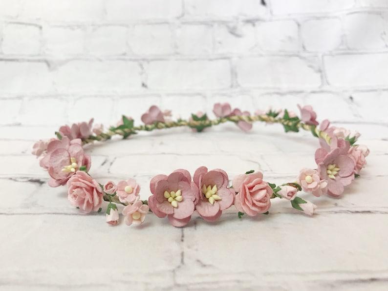 771df3914d0 Newborn Flower Crown Toddler Flower Crown Baby Flower Crown