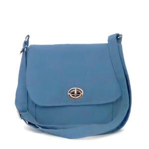 6403e64146 Medium cross body Bag   Shoulder Bag   Handbag   purse  cross body purse bag    Canvas Cross body Bag   Cross body bag   Blue Canvas