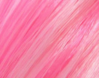 PREORDER LARGE Pink Marshmallow Saran and Nylon Blend Doll Hair for OOAK, Custom Monster High, My Little Pony, Blythe