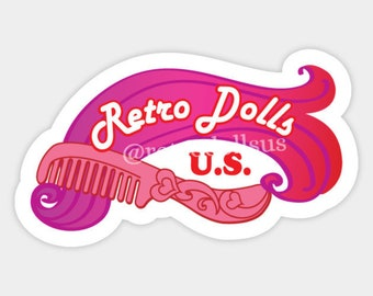 PREORDER Custom Retro Dolls US Vinyl Sticker