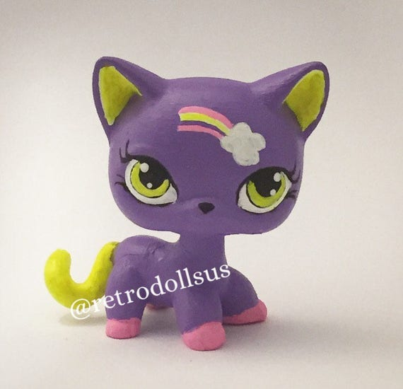 Littlest Pet Shop Toy Custom Ooak Lps Shorthair Cat Etsy