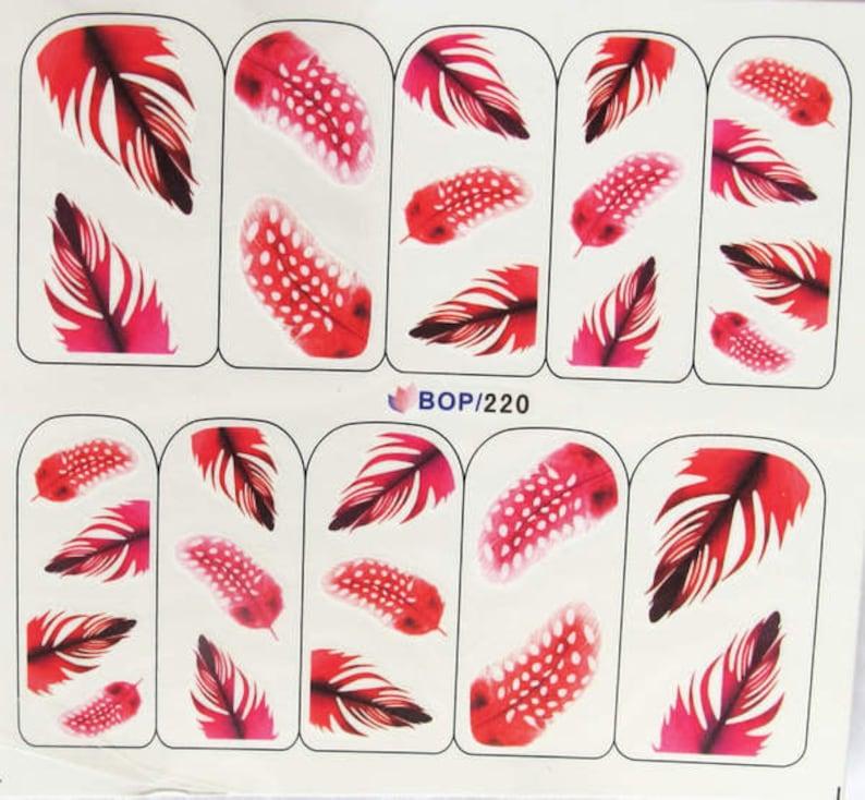 Bop 220 Nail Art Water Decal Nail Art Water Transfer Sticker Etsy