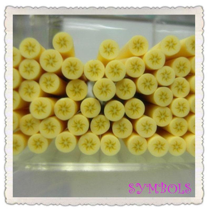 A-20 5PCS Round Banana Polymer Clay Cane Stick DIY Accessory