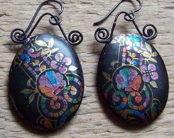 Earrings, recycled Tin   * 1