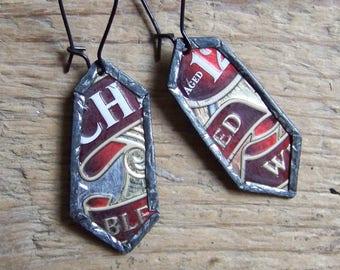 Recycled  tin earrings     *8