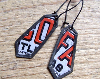 Recycled  tin earrings     *15