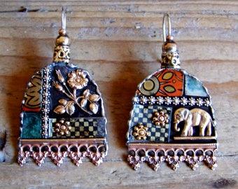 Recycled  tin earrings    * 15
