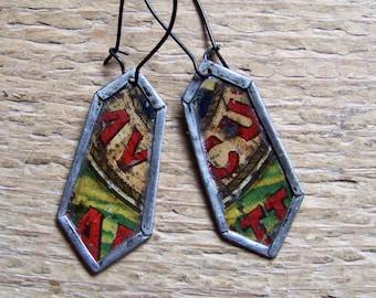 Recycled  tin earrings
