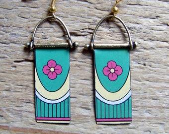 Recycled  tin earrings ,