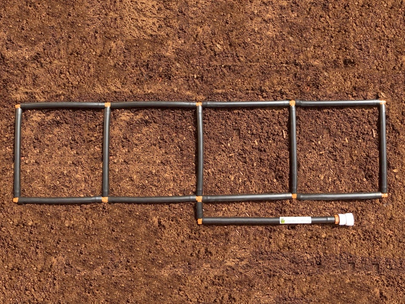 1x4 Garden Grid\u2122 watering system Garden Irrigation System and Planting Grid in one