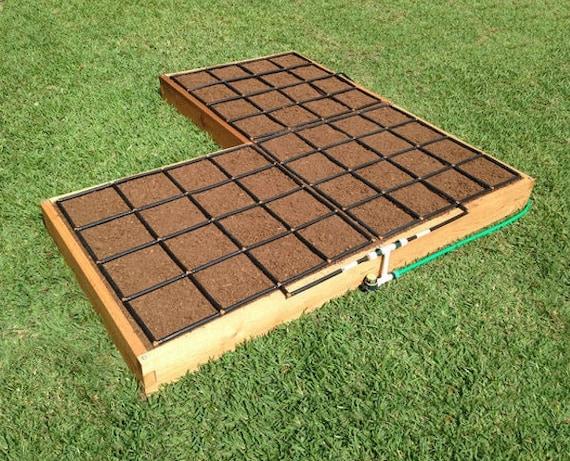 8x8 Corner Cedar Raised Garden Kit With Watering System | Etsy
