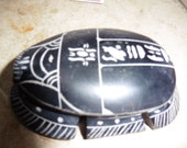 Scarab Carved from Black stone