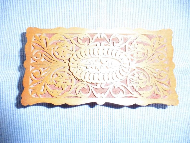 small wood Jewelry Casket fine sawn