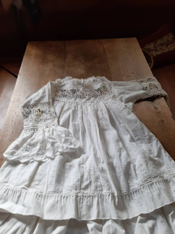 Antique underskirt and blouse, handwoven, hand-emb