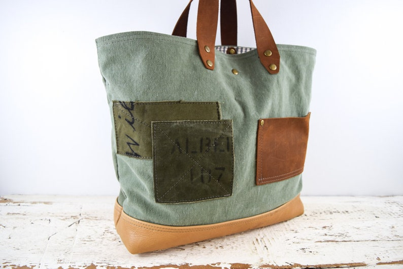 3a7e986fc2 US MILITARY BAG Tote Repurposed Large Carry All Weekend