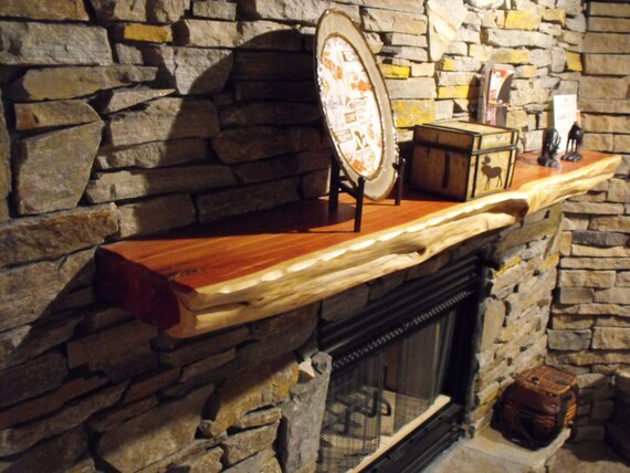For Display Only Live Edge Red Cedar Fireplace Mantels Made To Etsy