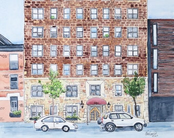 Custom building/home/house Watercolor Painting/Illustration