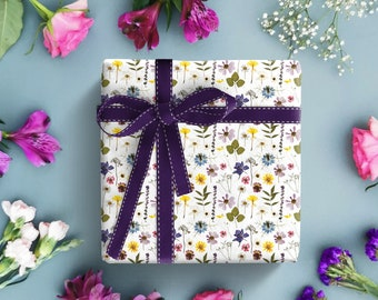 Apple blossom flowers in Spring wrapping paper  A3 with tags Gift Wrap /& Crafts