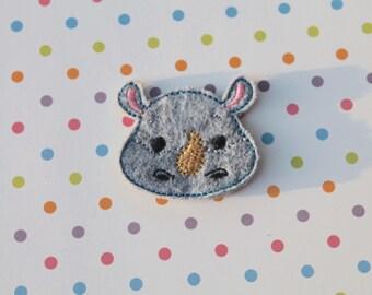 Rhinocerous Feltie Planner Clip Bookmark