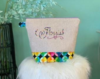Personalized Zipper pouch Flourish