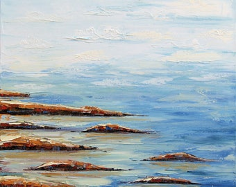 Original Painting, Beach Art, Pacific Ocean, Beach Decor, Landscape Painting, Coastal Art, California Landscape, Coastal Decor, Seascape Art