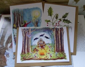 Christmas Art Cards ~ Set of 3